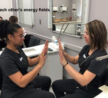 Therapeutic Touch Introduced to Esthetics Class at Loyalist College